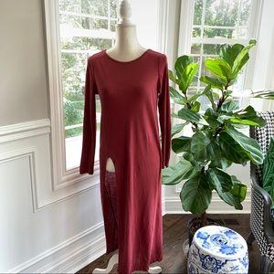 Zara ❤️ Long Tunic side Slit Tee ❤️ Size Medium